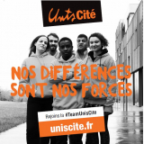 unis cite service civique Sticker Diff